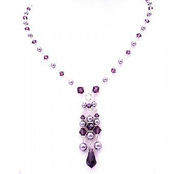 Swarovski Collection Valentine Gift Feburary Crystal Color Jewlery Amethyst Crystals Necklace
