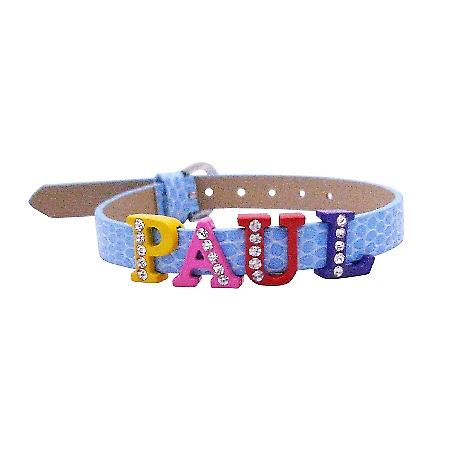 Customize Bracelet w/ Your Name On Watch Strap Bracelet