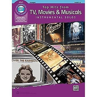 Top Hits from TV, Movies & Musicals Instrumental Solos: Alto Sax, Book & CD (Top Hits Instrumental Solos)