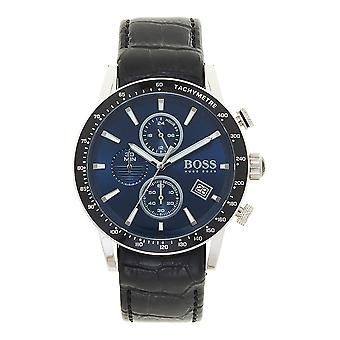 Hugo Boss 1513391 Rafale Blue And Black Leather Chronograph Men's Watch