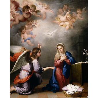 Annunciation, Bartolome Esteban Murillo, 50x40cm