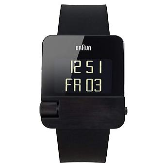 Brun unisex-66534 BN0106BKBKG gummi kvarts armbåndsur