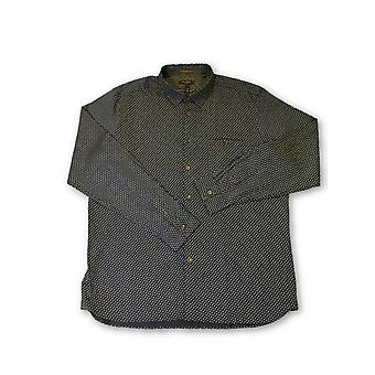 Ted Baker London shirt in navy leaf pattern