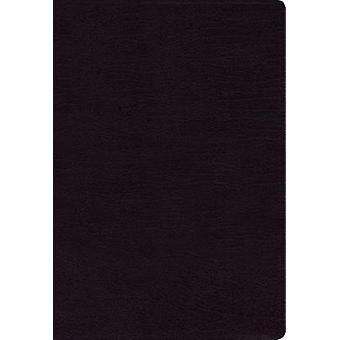 NIV - Thinline Bible - Large Print - Bonded Leather - Black - Red Let