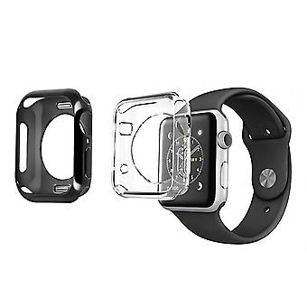 2x Watch case 42 and 44mm Soft Silicone Bumper Dux Ducis Black and Transparent