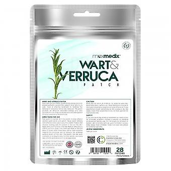 Wart and Verruca Patch - Hygienic, Mess Free Wart and Verruca Aid - 28 Circular Patches