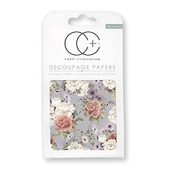 Craft Consortium Posy Decoupage Papers (CCDECP232)