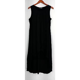 Kate Mallory Dress Mixed Media Flip Flop Full Coverage Racerback Black A434483