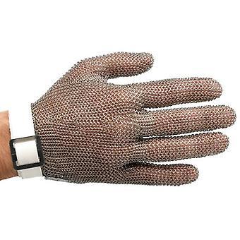 Manulatex Metal Butcher Glove Strap Ambidextrous Fiber White S Small