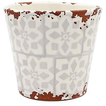 Eura Eura ceramic pot 14 x 12cm beige (Dekoracja , Rośliny i doniczki)