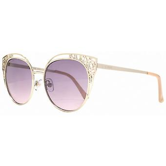 Lipsy London Filigree Cut Out Sunglasses - Light Gold