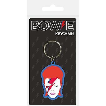 David Bowie Aladdin Sane Face PVC Keyring (bst)