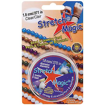 Stretch Magic Bead & Jewelry Cord 1.8Mm 3 Meters Pkg Clear Smk 3 01