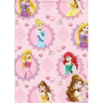 Disney Princess-cadeaux papier 2 feuilles & Tag 2 Pack (6623)