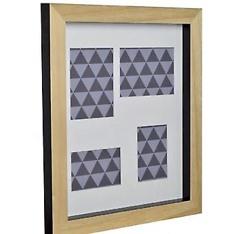 GAD Mix'n'match 4 windows in natural wood with back in black 49x59x4,5 cm