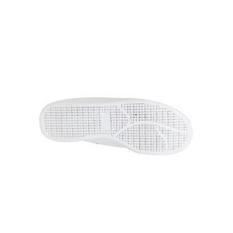 BadRhino bianco Velcro formatori con verde tacco dettaglio