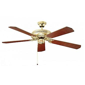 Ceiling Fan Classic polished brass with pull cord 132 cm / 52