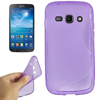 Protective case TPU case for mobile Samsung Galaxy ACE 3 S7272 purple