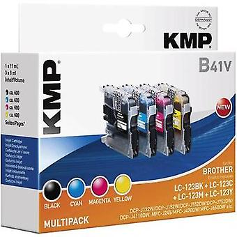 KMP Ink replaced Brother LC-123 Compatible Set Black, Cyan, Magenta, Yellow B41V 1525,0050
