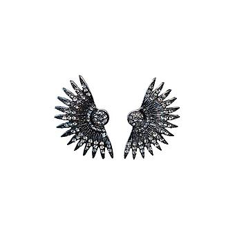 Rock chique statement oorbellen met edgy spikes