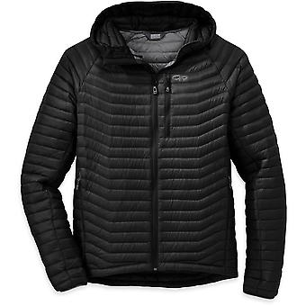 Outdoor Research Mens Verismo Hooded Down Jacket Black (Small)