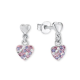 Princess Lillifee children earrings silver heart Kistalle 2013169