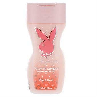 Playboy Play It Lovely Shower Cream For Her Silky & Floral 8.4oz / 250ml