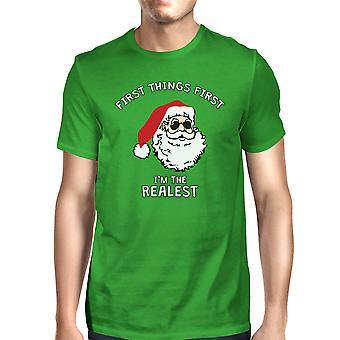 Realistico Santa Green t-shirt Unisex Natale regalo divertente camicia