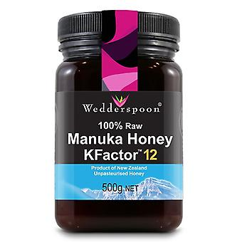 Wedderspoon, RAW Manuka Honey KFactor 12, 500g