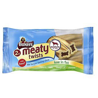 Bakers Meaty Twists Medium 180g (Pack of 12)