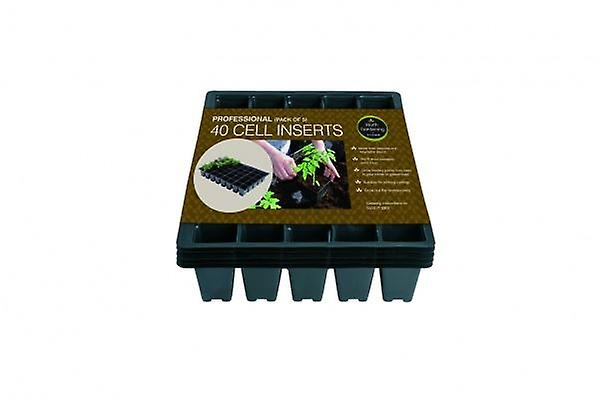 Professional 40 Cell Inserts Pack of 5 For Plants Gardening