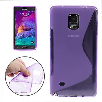 S-line silicone case purple for Samsung Galaxy touch 4 N910 N910F