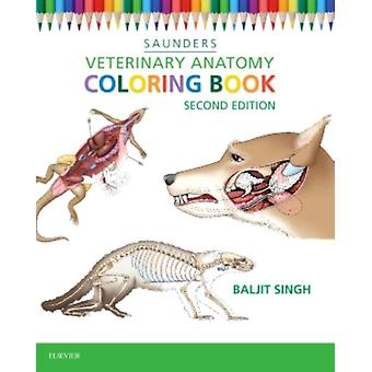 Veterinary Anatomy Coloring Book 2e (Paperback) by Saunders