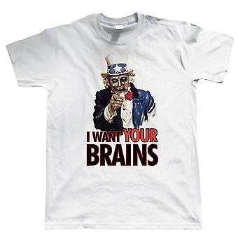 I Want Your Brains, Mens T Shirt