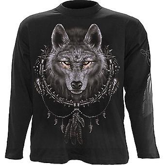Spiral - WOLF DREAMS - Long Sleeve T-Shirt, Black