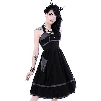 Restyle - BAT DRESS - Halter Neck - Black