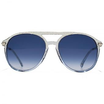 Wildfox Baroness Sunglasses In Crystal Cove Blue Gradient