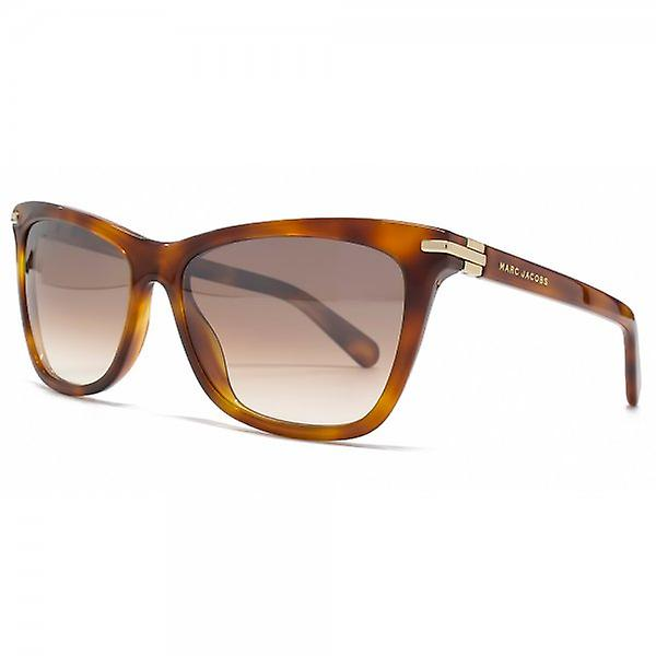 Marc Jacobs Flared Sunglasses In Light Havana