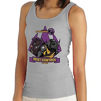 Pest Control Bebop og Rocksteady Teenage Mutant Ninja Turtles Kvinders Vest