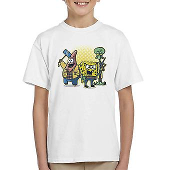 Equatic jægere svamp Bob Square Pants overnaturlige Patrick Squidward Kid T-Shirt
