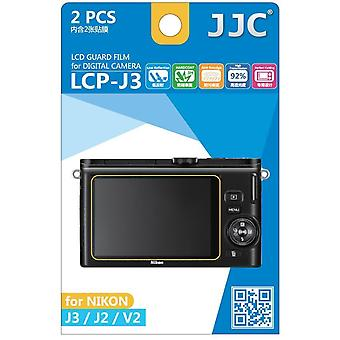 JJC Guard Film Crystal Clear Displayschutzfolie für Nikon 1 Serie J2, J3, V2 - kein Schneiden (2 Film-Pack)