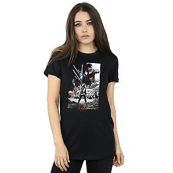 Star Wars Women's The Last Jedi Character Poster Boyfriend Fit T-Shirt