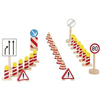 Goki Traffic signs, building site (Toys , Vehicles And Tracks , Parking And Circuits)