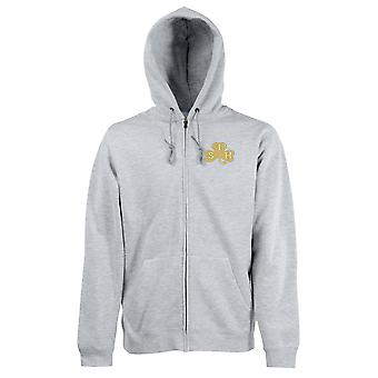 The South Irish Horse Embroidered Logo - Official British Army Zipped Hoodie Jacket