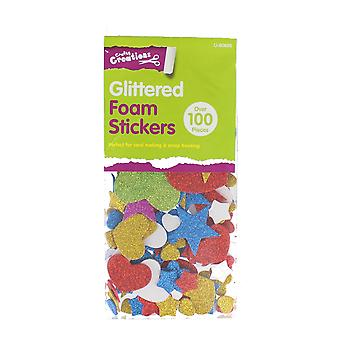 Children's Over 100 Glittered 3D Foam Self Adhesive Stickers Craft Accessories