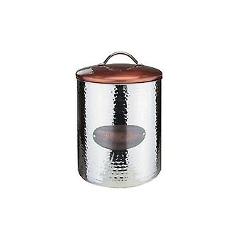 COOPER CANISTER BREAD IDEAL FOR STORAGE COOKIES BREAD PANCAKES HOME OR RESTAURANT DISPLAY WITH LID SILVER AND COOPER FINISH 27 CM(H)X20 CM(D)