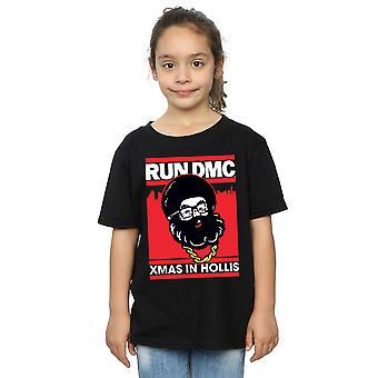 Run DMC Girls Santa Christmas T-Shirt