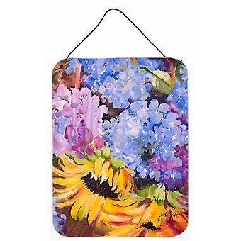 Hortensias y girasoles pared o puerta colgante impresiones