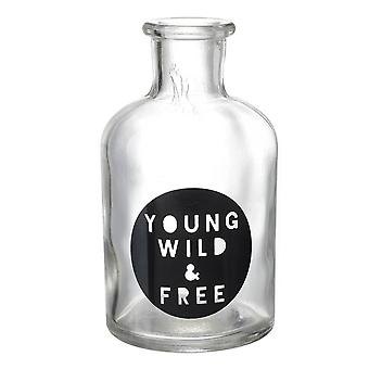 Young Wild & Free Glass Bottle