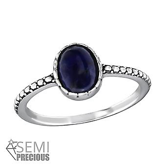 Oval - 925 Sterling Silver Jewelled Rings - W30677x